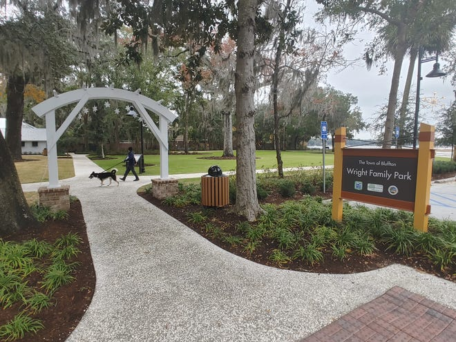 The greenspace and sidewalk portion of Wright Family Park is now open to the public.