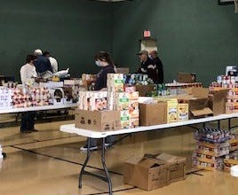 The Pecan Valley Kiwanis Club, in partnership with Brookshire's Foods and the Early High School Key Club, is gathering food, assembling boxesand delivering Christmas Boxes to those in need in the community.