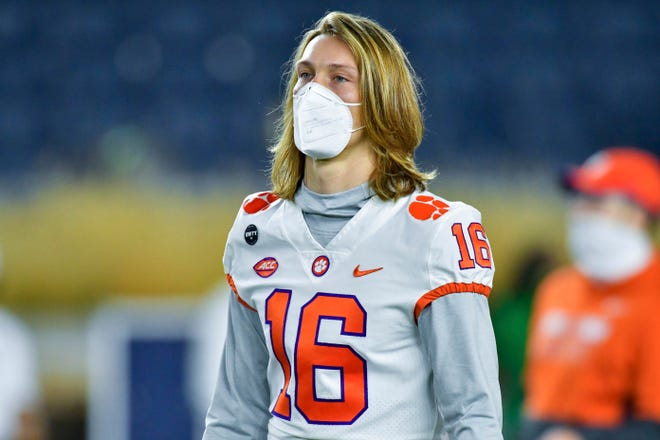 Starting quarterback Trevor Lawrence is back in the lineup for the Tigers.