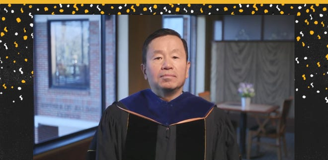 A screenshot of MU chancellor and UM System president Mun Choi during Friday's online graduation ceremony.