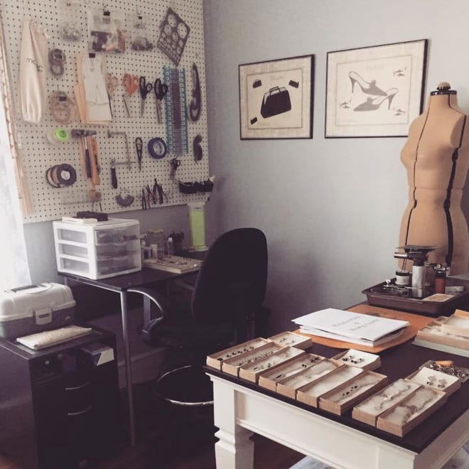 Katie Wyckoff in-home studio, where she created the Asheboro inspired collection of jewelry for Hammer and Heart Heirlooms.