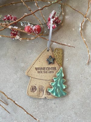 Proceeds from sales of Wayne Center for the Arts ornaments, handcrafted by Carli Moorefield, will be used to purchase art kits for families in need.