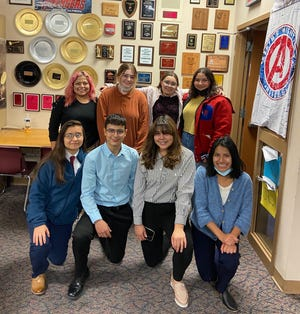 The DCHS debate team swept the top two places at the Moundridge Four Speaker Tournament held last Saturday. By going 10-0, the team of Deymi Martinez, Noah Elias, Paris Rivas, and Mariela Lopez claimed first place. With a record of 8-2, the team of Yesenia Guzman, Autumn Klein, Camillah Khan and Elizabeth Cox was able to place second in the field of 15 teams.
