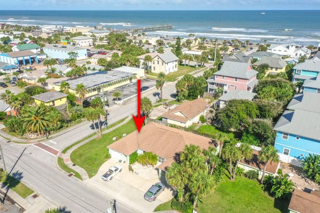This duplex is situated just one block from the Atlantic Ocean in Flagler Beach on a large fenced corner lot, with plenty of parking.