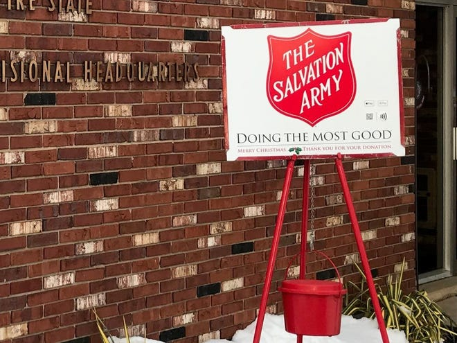 The Salvation Army Red Kettle and shield are familiar sights during the holiday season.