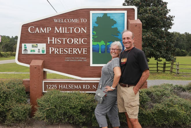 """Vickie and David Zuckerman made Camp Milton Historic Preserve one of the stops on their """"Jacksonville 20 in '20 Challenge."""""""