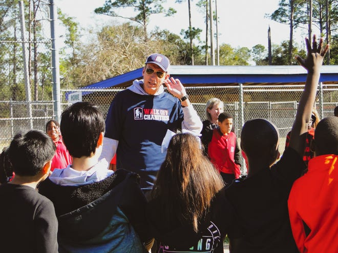 Frank Frangie, the radio voice of the Jacksonville Jaguars, founded Walk Off Charities in 2017 to bring more kids into baseball, especially those whose family couldn't afford for them to play.