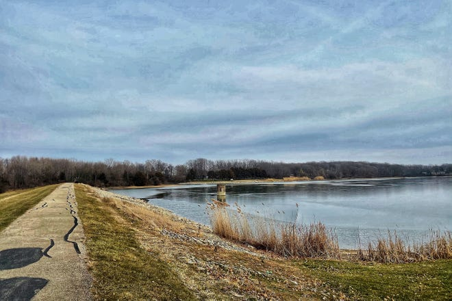 Lake Storey has seen from near the west boat ramp on Friday, Dec. 18, 2020. A preliminary study on a project that would nearly quadruple the size of Lake Storey indicates the project is both physically and financially feasible.