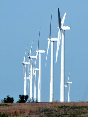 A wind farm near Greensburg.