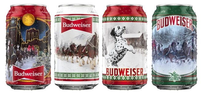 A woman was accused of stealing two 24-packs of Budweiser beer from this week a West Peoria convenience store. No word if the beer came in the holiday-themed cans Budweiser is selling this Christmas season.