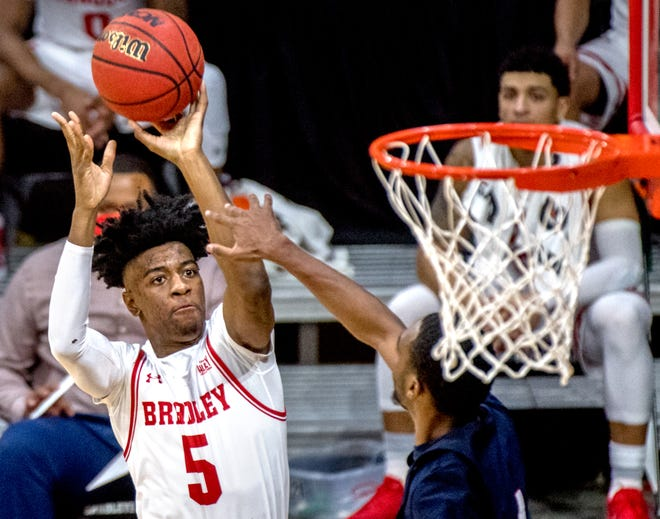 Bradley's Sean East II will miss the weekend series against Southern Illinois.