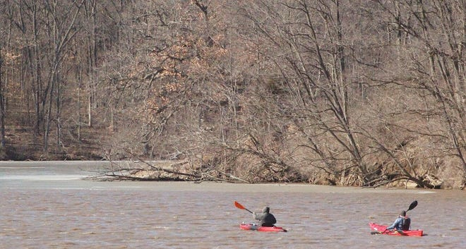 Kayakers paddle on Spring Lake in this March 9, 2019 Voice File photo.
