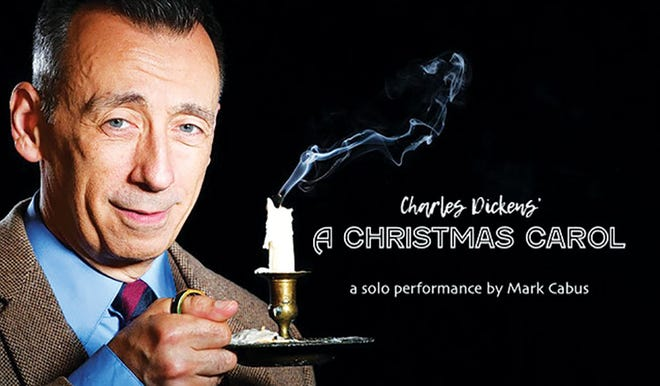 """Veteran actor Mark Cabus presents his one-man stage version of Charles Dickens' """"A Christmas Carol"""" once again to Oak Ridge Playhouse, except this time it's streaming now through Christmas."""