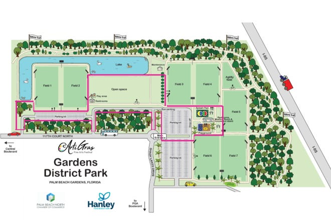 Festival organizers looked at a handful of alternate venues before selecting The Gardens North County District Park, an 82-acre athletic and recreation complex on 117th Court North near the city's tennis center.