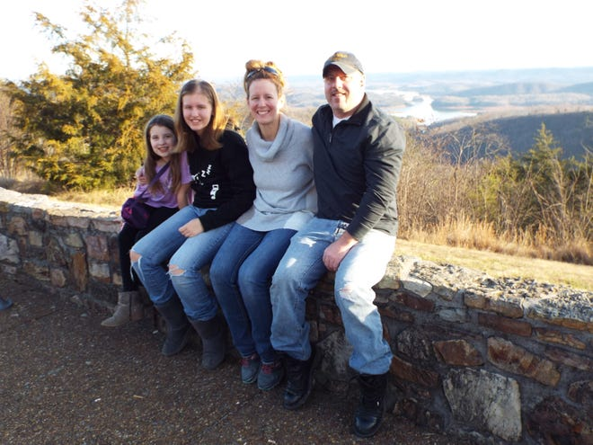 Capt. Matt Moulton recently vacationed in Tennessee with his family, from left, Grace, Emma and Rachel.