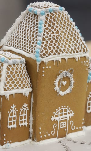 Jackson High culinary students put some unique flair into their gingerbread houses.