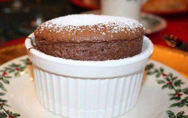 Individual Chocolate Souffle.