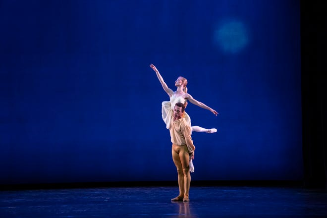 """Katelyn May & Yuri Marques in Christopher Wheeldon's """"The American,"""" featured in the next digital program from The Sarasota Ballet."""