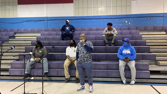 Coaches from multiple Savannah youth organizations came together Thursday at the Frank Callen Boys and Girls Club to condemn a viral video of a coach hitting a player.