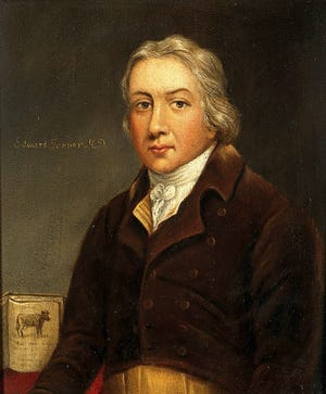 Edward Jenner, whom we have to thank for having vaccines at all.