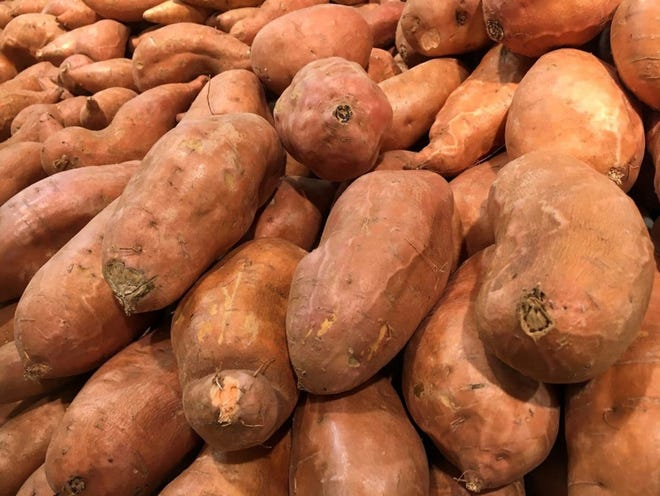 A mysterious pile of spuds that showed up at Craven Terrace in early March wasn't the work of a nefarious potato polluter but rather an act of charity by Rocky Mount farmer. [PHOTO ILLUSTRATION]