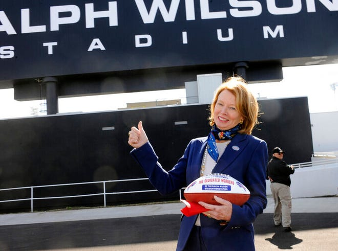 """I'm not trying to advertise or anything, but it's like `Oh, you're a Bills fan. Your team's doing so great,' "" said Mary Wilson, wife of late Bills owner Ralph Wilson. ""I'm so popular now because I'm a Bills fan."""