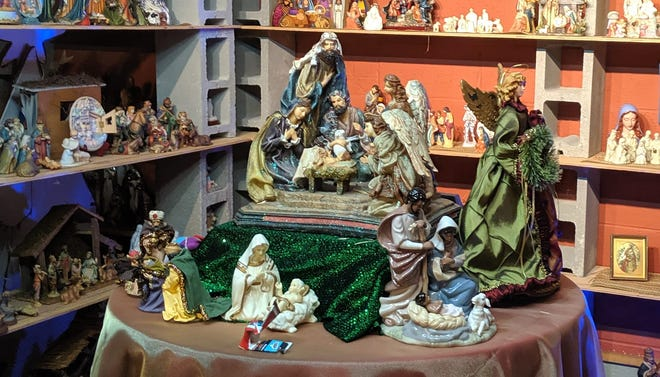 Rodney Gore of Tabor City has collected 2,700 nativities and other scenes connected to the birth of Christ. He puts them on display at Tabor City Nativity and Christmas Expo on 4th Street downtown. People can come view the nativities by appointment.