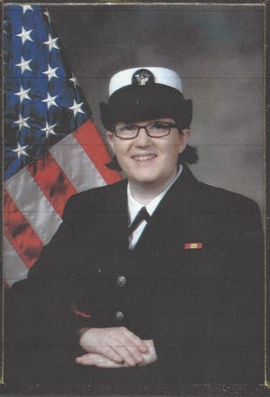 """Annette Miller, 24, in uniform. Miller, a second vice commander of the American Legion Post 230, was killed earlier this month. The commander of the local legion described her as a """"lovely person."""""""