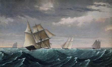 """Vessel Returning from Surinam"" by Fitz Henry Lane."