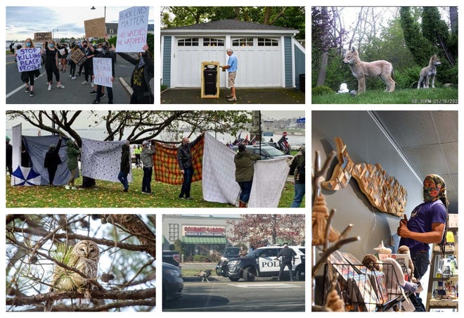 A  collage of photos corresponding with the Swampscott Reporter's 10 most-read stories of 2020.