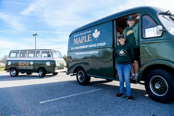 Don Mandelkorn and Margaret Davis, of Green Mountain Maple in Mills River, are shown in this Dec. 15 photo.