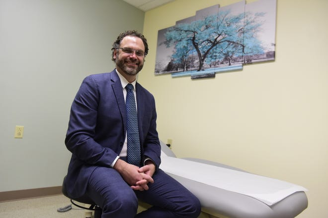 Thomas Smith, D.O., a bariatric surgeon for Avita Health, sits in his consultation room at the Galion Hospital.