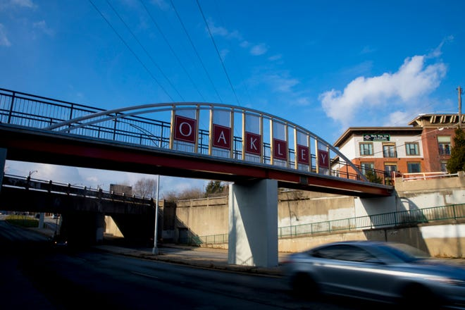 A view of the new East Gate Pedestrian Bridge on Friday, Dec. 18, 2020 in Oakley.  The $1.9 million project began two years ago when Cincinnati City Council approved the funding as an emergency ordinance. The bridge was unveiled on Dec. 18.