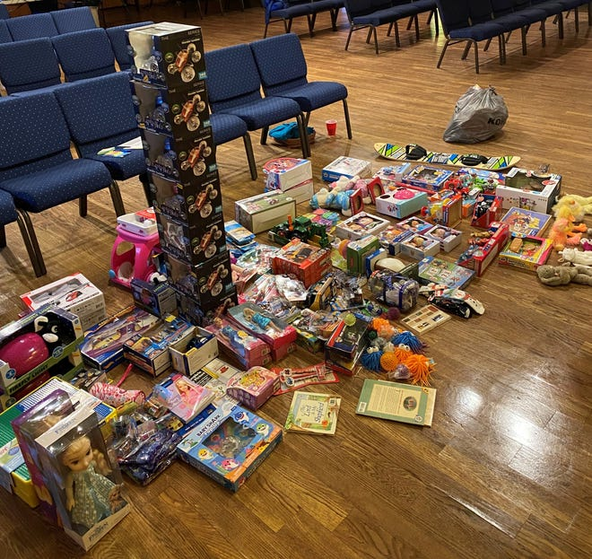 Some of the toys collected for a toy drive by the River Coshocton Church to help 125 kids have a brighter Christmas this season.