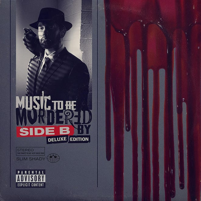 """Cover of Eminem's """"Music to Be Murdered By -- Side B Deluxe Edition,"""" released Dec. 18, 2020."""