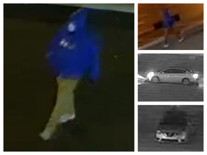 Evansville police are attempting to identify the man they say broke into two churches and stole the same type of instrument from each.