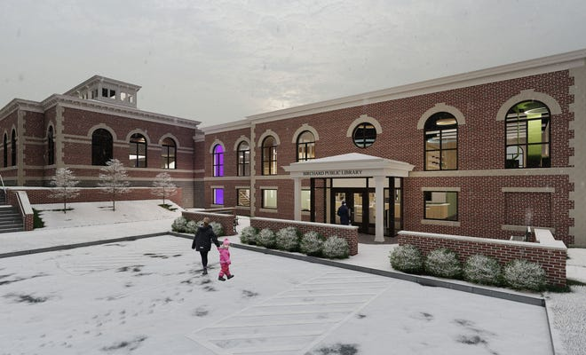 This is a rendering of Birchard Public Library's planned expansion project. The library is teaming up with Terra State Community College on a new continuous learning project funded through a $600,000 state capital improvement grant.