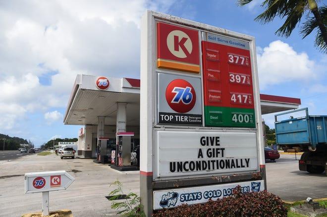 76 gas prices increased 10 cents, Hagåtña, Dec. 18, 2020.