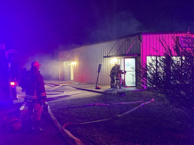 An accidental commercial fire started late Thursday night in Scott. The fire was determined to be accidental — caused by clothes overheating, igniting and spreading to a nearby machine and wall.