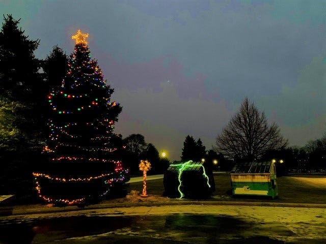 A drive-through nativity scene and light show will be held at St. Mary Catholic School in Pinckney Friday and Saturday.