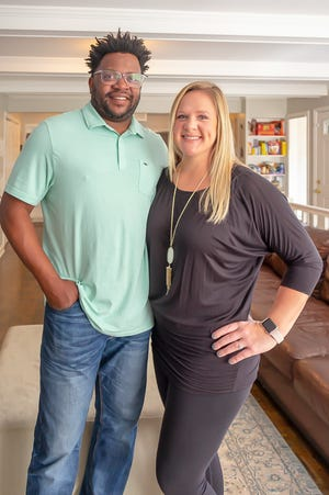 Andre and Ashley Lott are very happy in their new home.