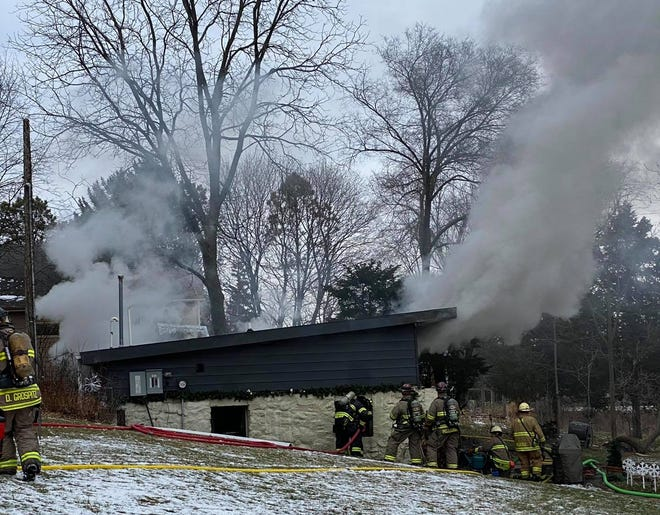 A city of Delafield home was destroyed in a fire.