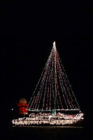 The Deck the Hulls Christmas Boat Parade is an annual event in Hendersonville.