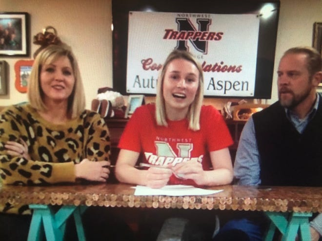 Aztec's Autumn Roundy signs her National Letter of Intent via Zoom on Thursday, Dec. 17, 2020, to continue her soccer career at Northwest College.