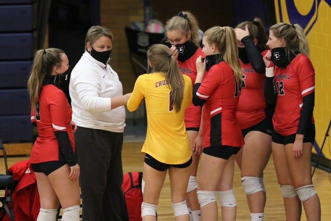 Livonia Stevenson head volleyball coach Amy Osborn previously coached at Livonia Churchill.
