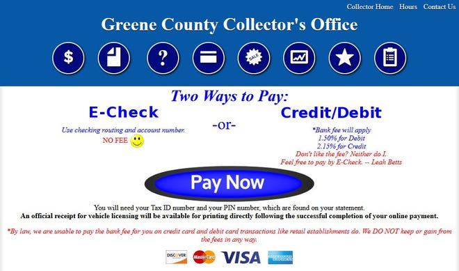 Greene County property tax bills will be mailed out next week after a software issue created a delay.