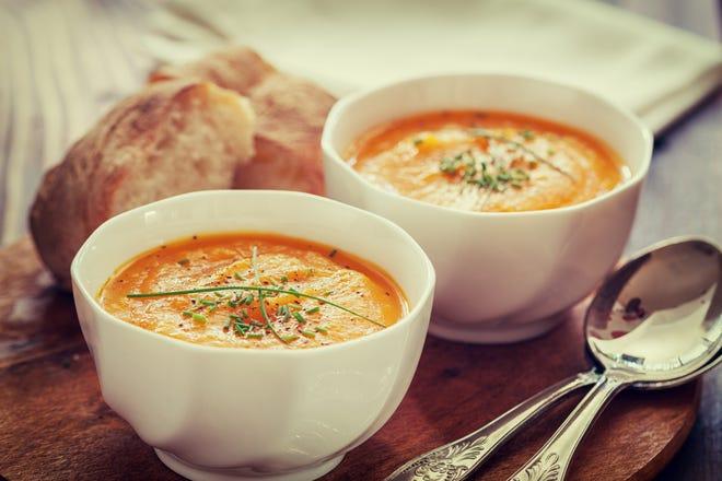 This butternut squash soup provides plenty of nutrients like fiber and beta carotene.