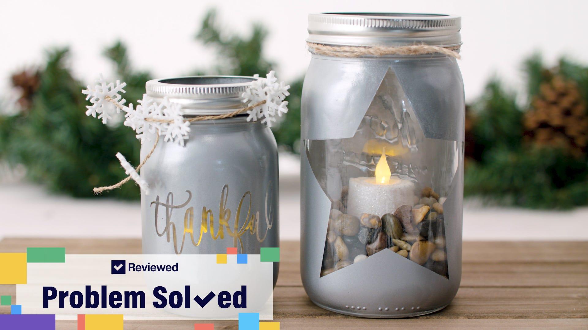 Make Mason jar lights as a holiday craft