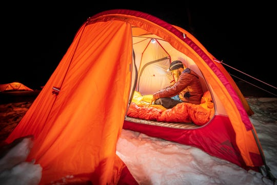 Preparation, including a ground pad and a toasty sleeping bag, makes for a comfortable and safe cold weather camp.