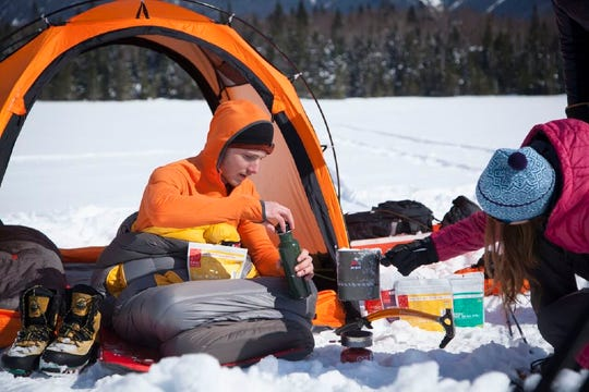 Dehydrated meals are your best friend on winter camping trips. Just add boiling water and wait 10 minutes.